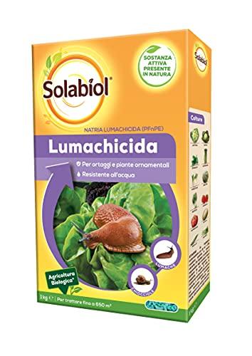Solabiol Lumachicida PFnPE Biologico a Base di Fosfato Ferrico. Azione Rapida e di Lungo Periodo in formulazione a Umido particolarmente Resistente all'Acqua, 1 kg
