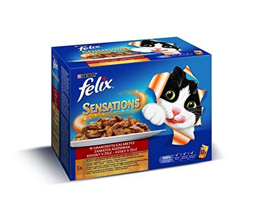 Felix Sensibles a la bolsa de multipack la carne y el pescado selección 12x100g, Félix, bolsas, Gatos