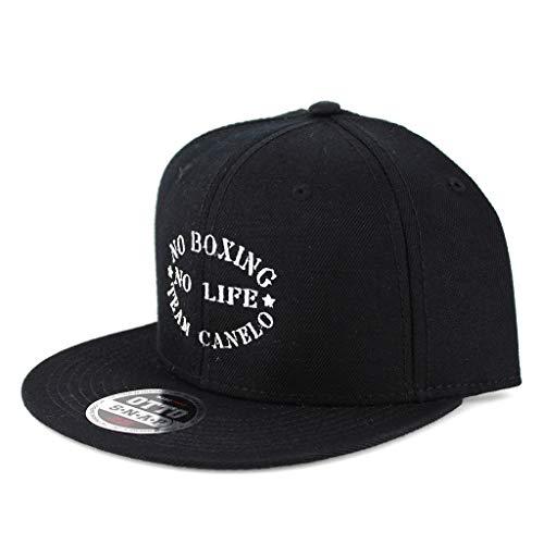 No Boxing No Life Canelo Flat Six Panel Pro Style Snapback OttoCap #1124 Black