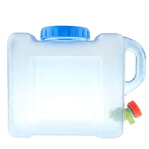 perfk Wasserbehälter/Wasserkanister mit Zapfhahn, 5 Liter/ 8 Liter, für Trinkwasser - 8L