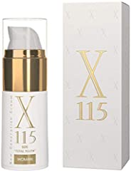 Idea Regalo - X115® Crema Viso Donna | 15 ml ▶ Crema Antirughe MultiAzione ◀ IDRATANTE | Acido Ialuronico, Collagene | LIFTANTE | Esapeptidi | RIDENSIFICANTE | Oli di Argan, Acai, Avocado | Vitamina C, E, Retinolo