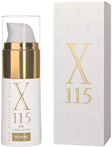X115® | Crema Antiarrugas Mujer | 15 ml | Crema para la Cara | Fórmula Completa 5 Azziones | HIDRATANTE + EFECTO LIFTING | Ácido Hialurónico | Colágeno | Alantoína | Pantenol | Argan | Vitaminas