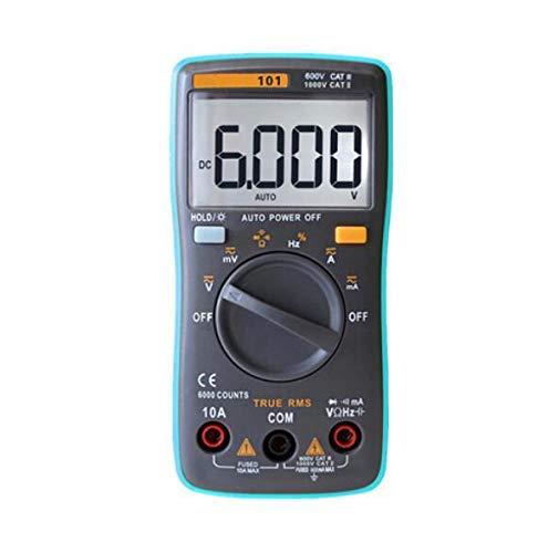 Yongenee Multímetro Digital 6000 cuentas de luz de fondo AC/DC voltímetro del amperímetro Ohm portátil Medidor de Tensión 098/100/109/111, Rm101 Herramientas industriales