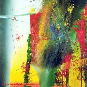 Kunstdruck/Poster: Gerhard Richter D G - hochwertiger Druck, Bild, Kunstposter, 117x117 cm