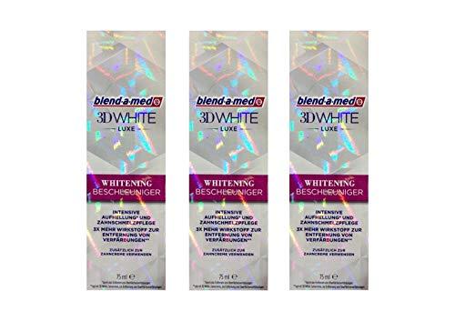3x Blend-A-Med 3D White Luxe Whitening Beschleuniger 75 ml, Original Zahnaufhellung