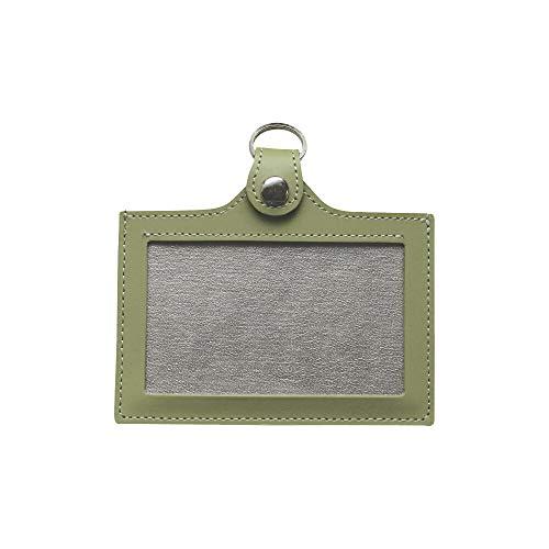 本牛革 日本製 IDケース カードホルダー 便利な 両面 パスケース パスケースの色は ミント