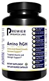 Premier Research Amino HGH, Amino Acid-Based Growth Hormone Support, Dietary Supplement, 105 Plant Source Capsules