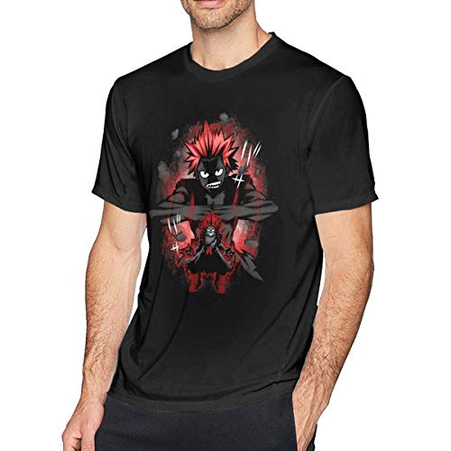 xijia maoyi Boku No Hero Academia - Iida Tenya Hombre/Men's Cotton Fabric Short Sleeve Camiseta/T-Shirt 3X-Large