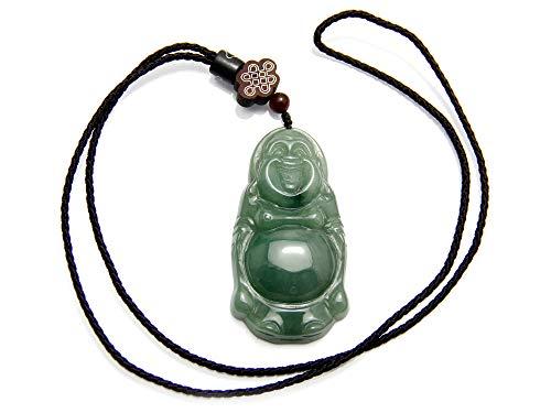 JCA1925 - Collier unique Pendentif bouddha rieur - Pierre de