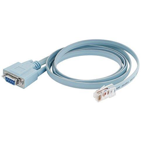N/A Konverter Rs232 DB9 zu RJ45 Cat5 Ethernet Kabel für Router Netzwerk
