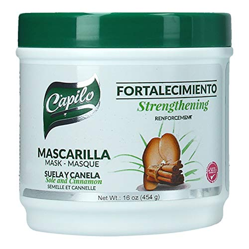Capilo Sole and Cinnamon Strengthening Mask (16 oz Tub); Mineral Oil Free, Petroleum Jelly Free