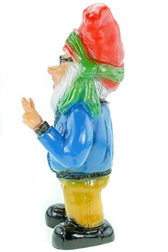 Zwerg Hippie, Victory, 32 cm, Gartenzwerg, Kunststoff - 3