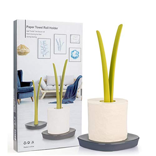 Meiyijia Halter Küchenrollenhalter stehend, Rollenhalter Küche, Praktisch und schlicht, ABS-Kunststoff, 35.5 x 16cm