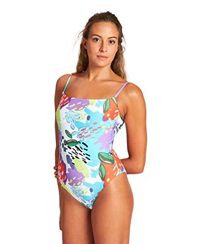 ARENA Damen Allover Back One Piece Swimsuit, White Multi, 40 EU