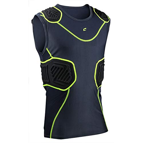 CHAMPRO Bull Rush Football Compression Shirt w Cushion System