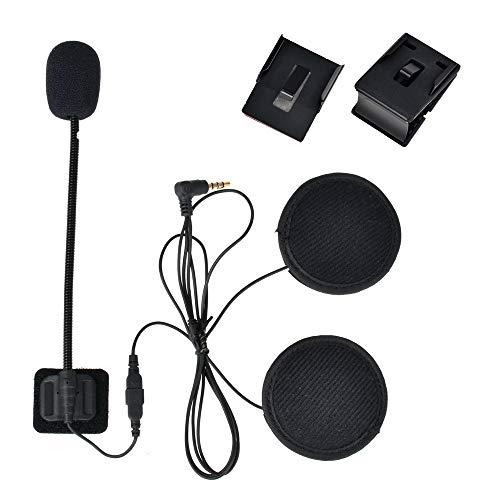 Intercomunicador Bluetooth Moto, Casco Auriculares con Sistema de comunicación Estar Hecho para V6 Plus (Auriculares con Cable Duro y Suave)
