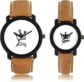 FENTIQ Analogue King and Queen Printed Couple Watch Men's Watch Women's Watch