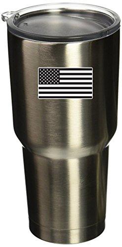 BOLDERGRAPHX 5093 Bandera Americana Negra 1 x 2 pulgadas Vinilo Pegatina para Yeti Mug Cup RTIC Sic Cup Thermos Cup o Laptop Teléfono Celular Wrap o Hardhat