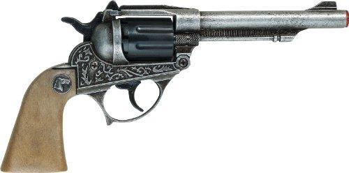 Villa Giocattoli Pistola in Metallo Alabama, Colore Grigio Anticato, 1592