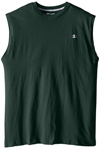 Champion Men's Big-Tall Jersey Muscle T-Shirt, Dark Green, 2X/Tall