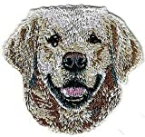 VirVenture 2 1/8' x2 1/4' Golden Retriever Dog Breed Head Portrait Embroidery Patch Great for Hats, Backpacks, and Jackets.