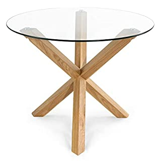 """POLY & BARK Kennedy 37.4"""" Round Dining Table, Natural (B07HNXYVSF) 