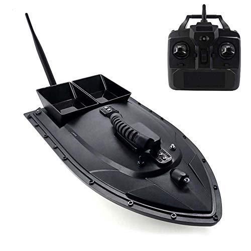 ZDSKSH Barco de Cebo de Pesca 500m con luz de Noche LED, 2 Motores y 2 Papelera de Cebo RC Bait Boat con 1.5kg Carga, Barco de Cebo de Pesca de Control Remoto para Piscinas y Lagos