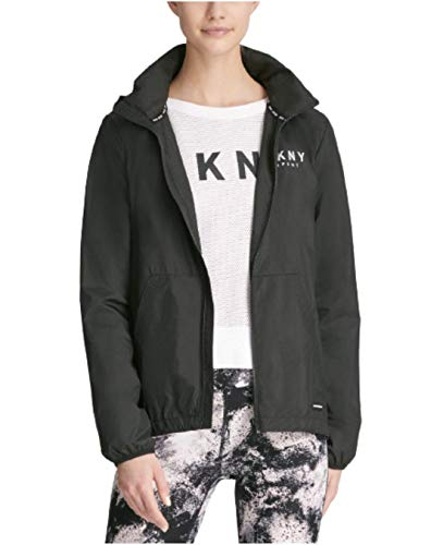 DKNY Sport Womens Running Fitness Athletic Jacket, Black L