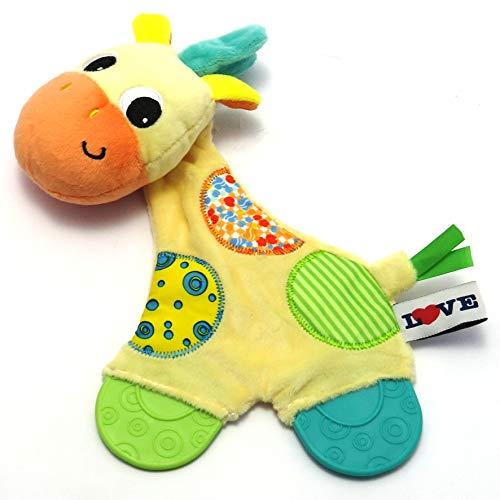 Mordedor Com Atividades Girafa, Love, Amarelo