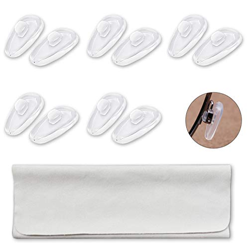 Push-in Eyeglass Nose Pads, PTSLKHN 5 Pairs 15mm Soft Silicone Air Chamber Eyeglasses Nose Pads …