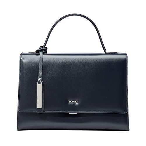 Picard Berlin M Damentasche aus Leder mit Tragegurt, Steckfächern, Reissverschluss und Steckverschluss Henkeltasche 10 Liter 21 x 31 x 11 cm (H/B/T) Damen (4870)