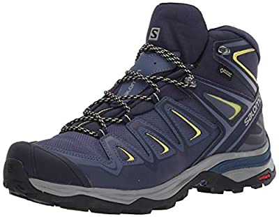 Salomon Women's X Ultra 3 MID GTX W Hiking, Crown Blue/Evening Blue/Sunny Lime, 9.5