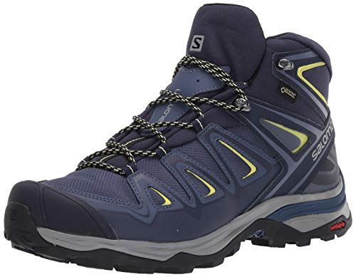 Salomon Women's X Ultra 3 Wide MID GTX W Hiking, Crown Blue/Evening Blue/Sunny Lime, 9.5