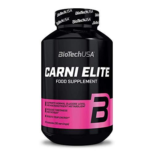 BioTechUSA Carni Elite Cápsula de suplemento dietético con L-carnitina, CLA y HCA, minerales y vitaminas, 90 cápsulas
