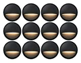 GKOLED 12-Pack Low Voltage LED Deck Lights, Landscape Step Lights with 2W...