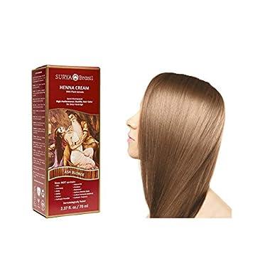 Surya Brasil Products Brown Henna Cream, Ash Blonde, 2.37 Fluid Ounce
