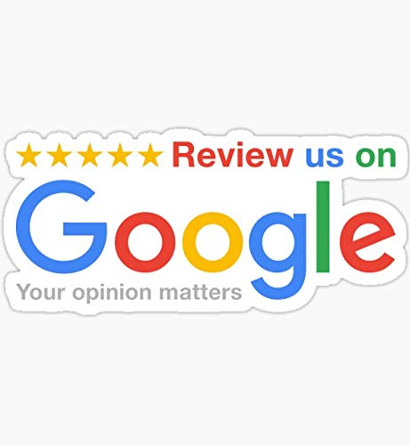 Review Us On Google - Sticker Graphic - Auto, Wall, Laptop, Cell, Truck Sticker for Windows, Cars, Trucks