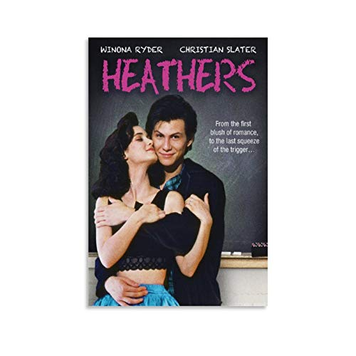 TWWT Movie Retro Poster Heathers Winona Ryder and Christian Slater Poster Decorative Painting Canvas Wall Art Living Room Posters Bedroom Painting 12x18inch(30x45cm)