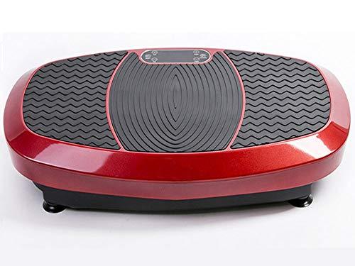 DPLQX Vibrationsplatte, Fitness Ganzkörper Vibrationsgerät Trainingsgerät Vibration Trainings, Max Last 150kg w/Widerstand-Bänder, für Erwachsene Weight Loss,Red