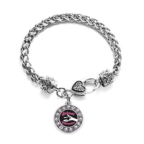 School Counselor Silver Bracelet