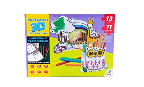 Novelty Rompecabezas 3D para Colorear Lapicera & Porta Retrato Puzzle