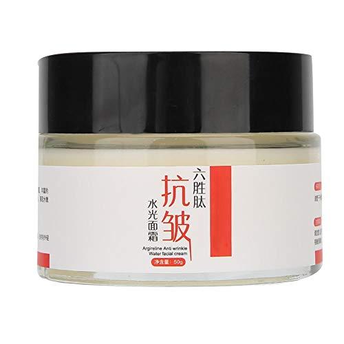 Crema facial de eliminación de arrugas de hexapéptido de 50 ml, crema facial hidratante para el cuidado de la piel, crema hidratante para hombres y mujeres, crema facial hidratante para el rejuvenecim