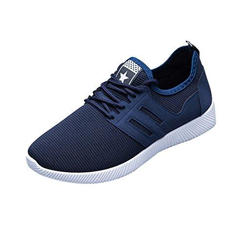 Zapatillas De Deporte De Color SóLido De Moda para Hombre Zapatillas con Rayas De Color SóLido Correas Cruzadas Calzado Deportivo Transpirable Zapatos Casuales