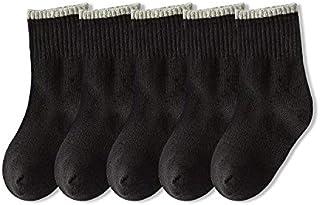 LiuQ, LiuQ Calcetines hasta Rodilla Niñas 5 Pares Primavera otoño Calcetines bebé niños niñas Negro Blanco Gris Calcetines algodón niños cómodos Calcetines niños Escuela Deporte Ropa Niña