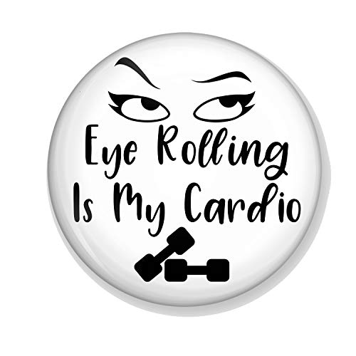 Gifts & Gadgets Co. Eye Rolling Is My Cardio Miroir de maquillage rond 58 mm