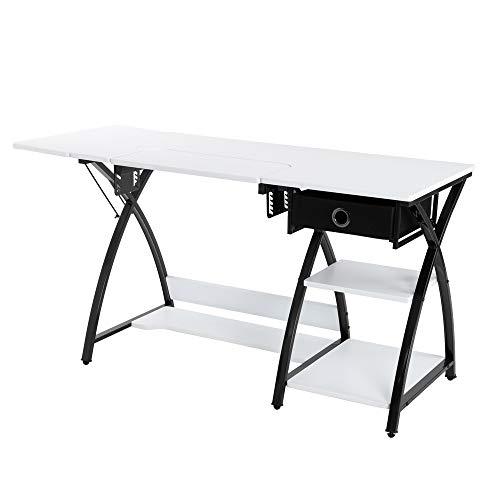 Máquina de coser de escritorio multifuncional tipo cajones simples ajustables diario trabajo en casa estudio espacioso