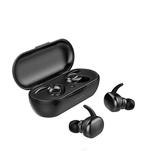 XZJJZ Auriculares Bluetooth 5.0 Touch Sports Auriculares con compartimento de carga estéreo emparejamiento rápido, apto para jugar juegos y escuchar música (color negro)