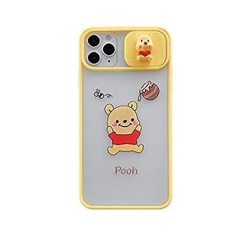 Soft TPU Phone Case for Apple iPhone 11 Pro 11Pro Clear Transparent Winnie The Pooh Bear Honey Hunny Yellow Walt Disney Disneyland Cartoon Cute Lovely Fun Girls Kids Son Boys