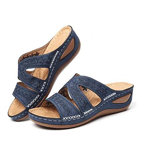 AMYGG Dr.Care Premium Sandali ortopedici con Piattaforma Spessa di Grandi Dimensioni, Pantofole estive Ortopediche Comode da Donna, Pantofole estive da Viaggio in Spiaggia (C,39)