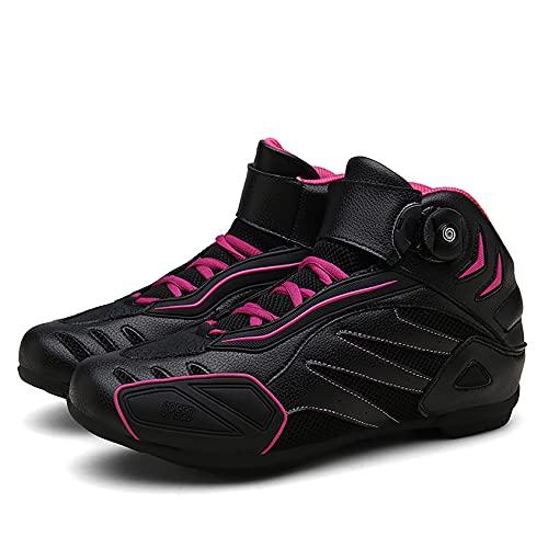 RTY Zapatos de Bicicleta de montaña, Ciclos sin Hacer Clic,Púrpura,36
